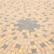 Circle pattern of stone paving — Stock Photo
