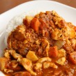 Spicy chicken curry and rice — Stock Photo #34573517
