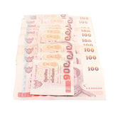 Thai money on white background — Stock Photo