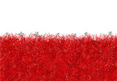 Red christmas tinsel texture background — Stock Photo
