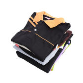 Pile of clothes on white background — Stock Photo