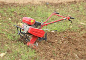 Small hand tractor — Stock Photo