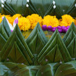 Thai flower texture decoration — Stock Photo