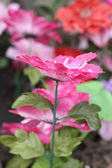 Beautiful artificial decoration flowers — Stock Photo