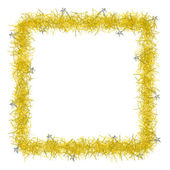 Christmas tinsel texture background blank for text — Stock Photo