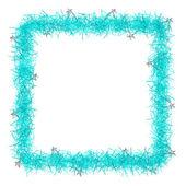 Fondo de Navidad oropel textura en blanco para texto — Foto de Stock