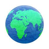 Planet earth on white — Stock Photo