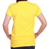 Close-up female with blank t-shirt (back side) — Stock Photo