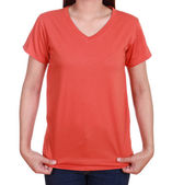 Blank t-shirt on woman  — Stock Photo