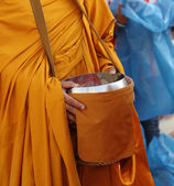 Buddhist monk's alms bowl — Stock Photo
