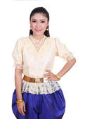 Woman wearing typical thai dress — Stock Photo