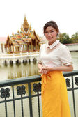 Thai women dressing with traditional style — Foto Stock