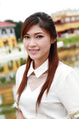Thai women dressing with traditional style — Stock Photo