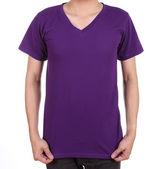 Adam boş t-shirt — Stok fotoğraf