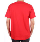 Blank t-shirt on man (back side) — Stock Photo