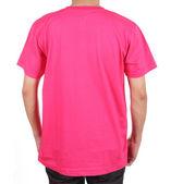 Blank t-shirt on man (back side) — Photo