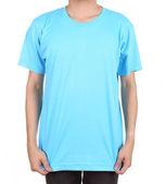Blank t-shirt on man — Stockfoto