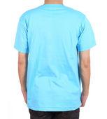 Blank t-shirt on man (back side) — Stockfoto