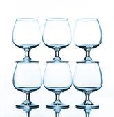 Stack of empty wine — Stock Photo