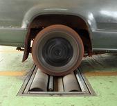 汽车制动试验系统 — 图库照片
