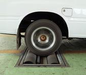 Car brake testing system  — Stock Photo