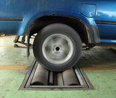 Brake testing system of car — Stock Photo