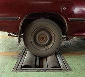 тормозная система тестирования автомобиля — Стоковое фото