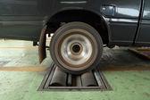 Brake testing system of car — Zdjęcie stockowe