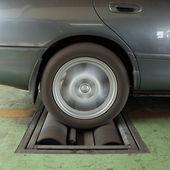 刹车汽车测试的系统 — 图库照片
