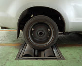 Bremsen sie-testsystem von auto — Stockfoto