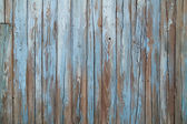 Old blue wood wall — Stock Photo