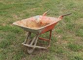 Old wheelbarrow — Stock Photo
