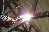 Elektrischer Anschluss Bau Metall Schweißen — Stockfoto