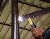 電気接続建設金属溶接 — ストック写真