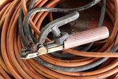 Welding electrode holder — Stock Photo