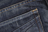 Close up of blue Jeans pocket texture — Stock Photo