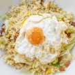 Fried Rice with Chinese Sausage and Salted Egg Yolk — Stock Photo #38596975