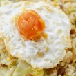 Fried Rice with Chinese Sausage and Salted Egg Yolk — Stock Photo