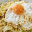 Fried Rice with Chinese Sausage and Salted Egg Yolk — Stock Photo #38596997