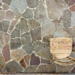 Old Chair on Porphyry Paving - Stock Photo