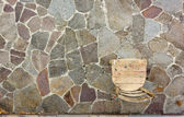 Old Chair on Porphyry Paving — Stock Photo