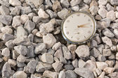Old Watch on the Gravel — Stock Photo