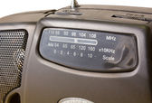 Closeup on a Portable FM-AM Radio — Stock Photo