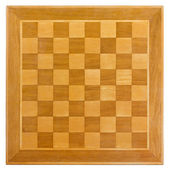Wooden Chessboard — Stock Photo