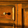 Close-up of a Wooden Chest - Stock Photo