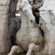 Close-up on Fontana dei Quattro Fiumi - Stock Photo