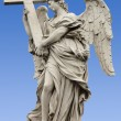Statue of an Angel on Sant'Angelo Bridge — Stock Photo