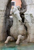 Close-up on Fontana dei Quattro Fiumi — Stock Photo