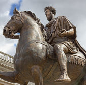 Statue of Emperor Marcus Aurelius — Stock Photo