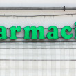 Lighted Italian Pharmacy Sign — Stock Photo